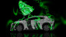 Lexus-LF-NX-Side-Fantasy-Multicolors-Butterfly-2014-Green-Neon-design-by-Tony-Kokhan-[www.el-tony,com]