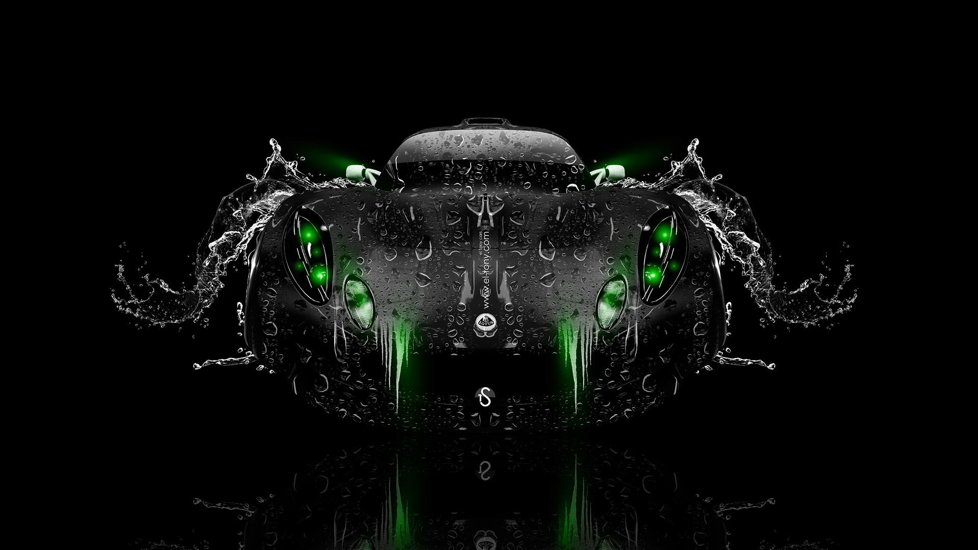 Lotus-Exige-FrontUp-Water-Car-2014-Green-Neon-HD-Wallpapers-design-by-Tony-Kokhan-[www.el-tony.com]