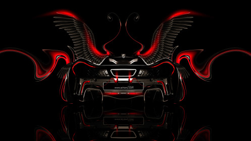 McLaren-P1-Fantasy-Back-Plastic-Fly-Car-2014-Red-Neon-design-by-Tony-Kokhan-[www.el-tony.com]