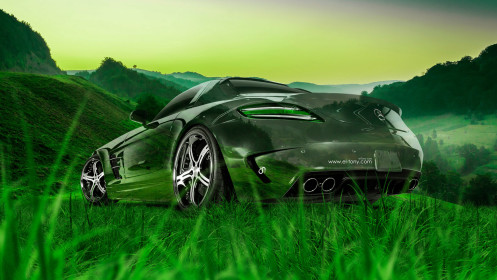Mercedes-Benz-SLS-AMG-Crystal-Nature-Car-2014-HD-Wallpapers-design-by-Tony-Kokhan-[www.el-tony.сom]