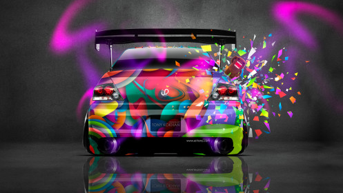 Mitsubishi-Lancer-Evolution-JDM-Style-Back-Domo-Kun-Car-2014-Multicolors-design-by-Tony-Kokhan-[www.el-tony.com]