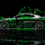 Monster Energy Nissan Skyline GTR R34 Side Plastic Car 2014
