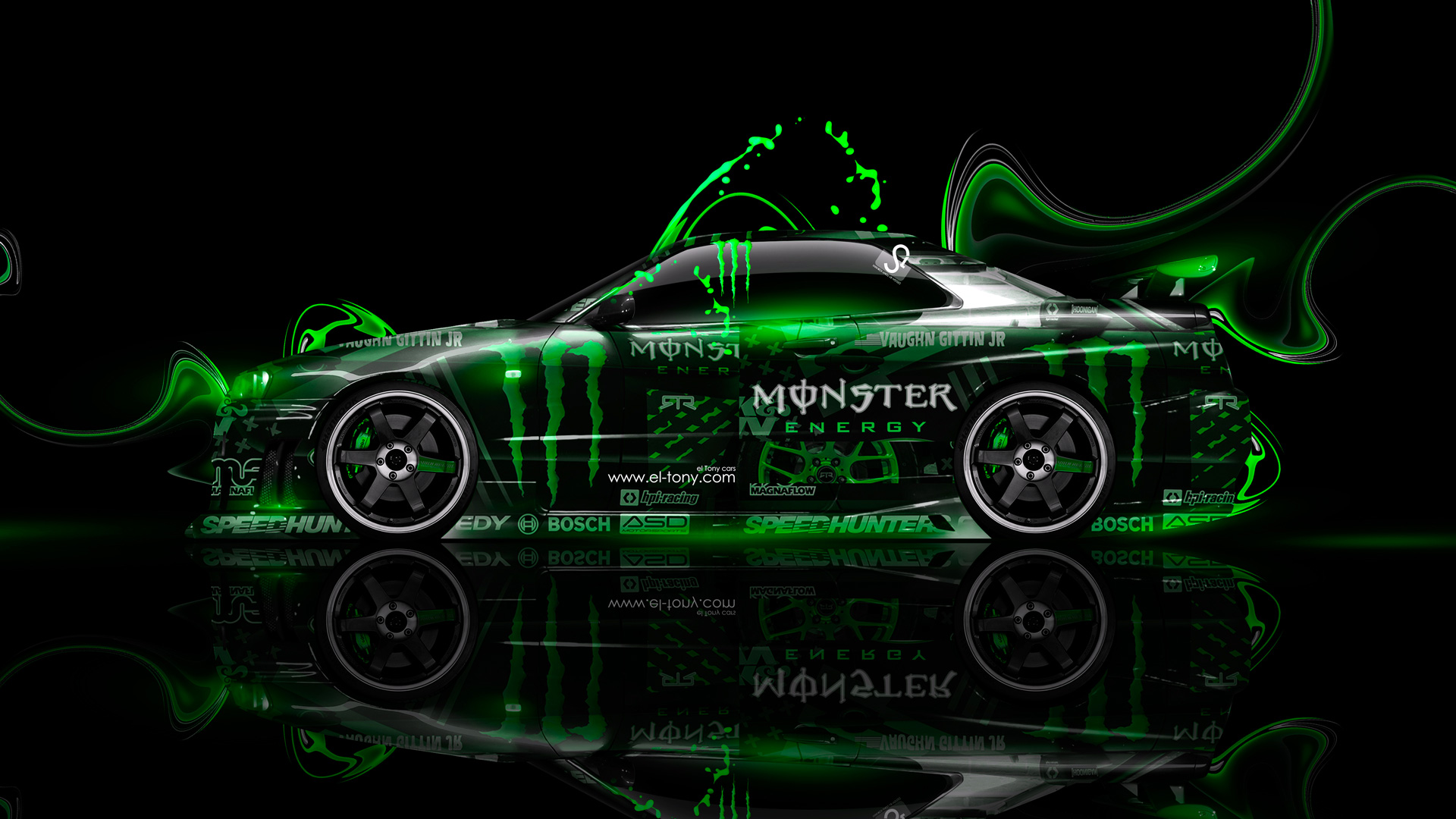 High Quality Monster Eenrgy Nissan Skyline GTR R34 JDM Side