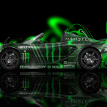 Monster Energy Lotus Elise Side Neon Plastic Car 2014
