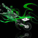 Monster Energy Kawasaki Crocodile Bike 2014