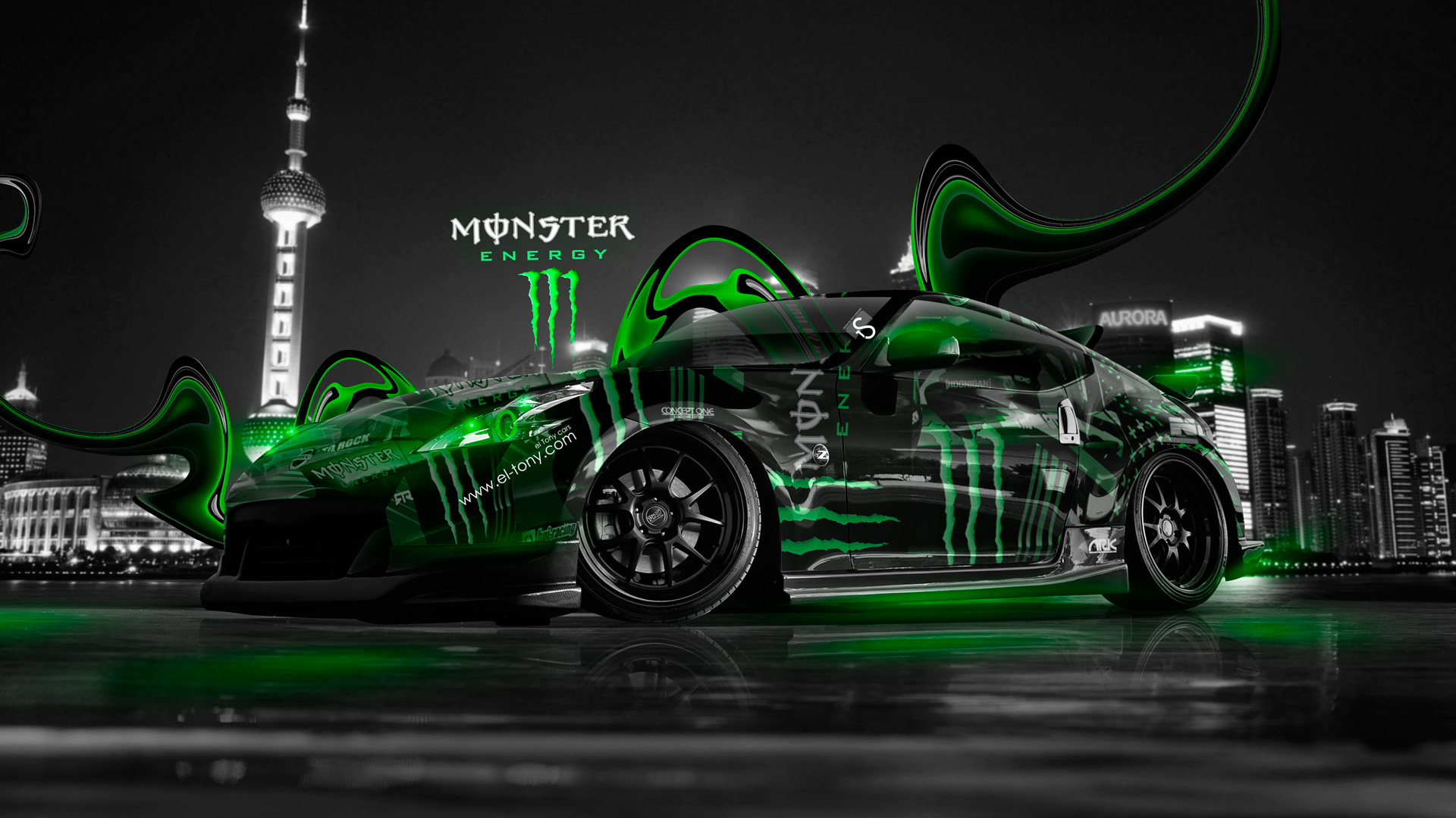 Monster Energy Nissan 370z City Plastic Car 2014 El Tony