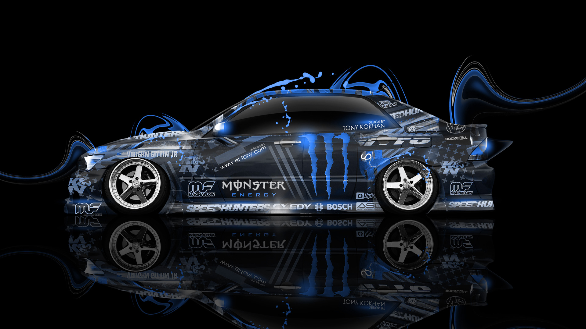 Toyota Camry JDM Tuning Side Fire Abstract Car 2015 Wallpapers El .