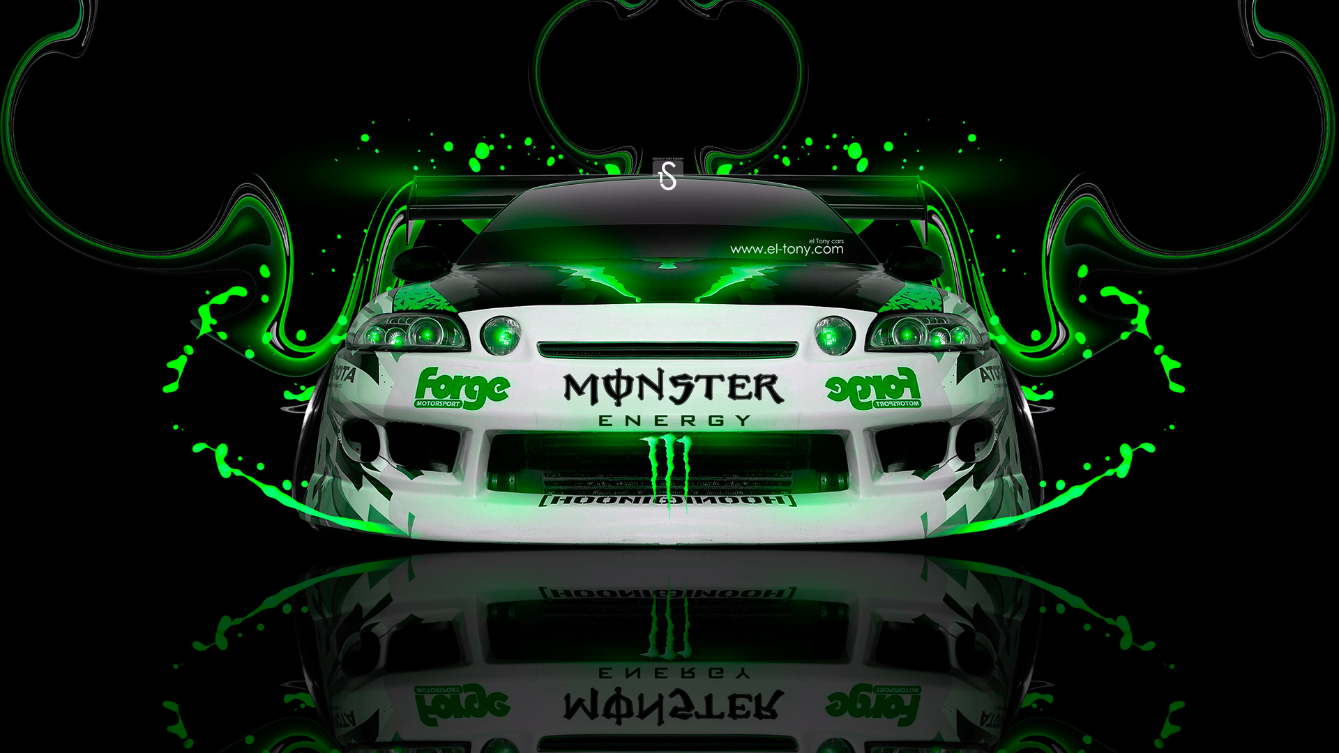 Monster Energy Toyota Soarer Jdm Plastic Car 2014 El Tony