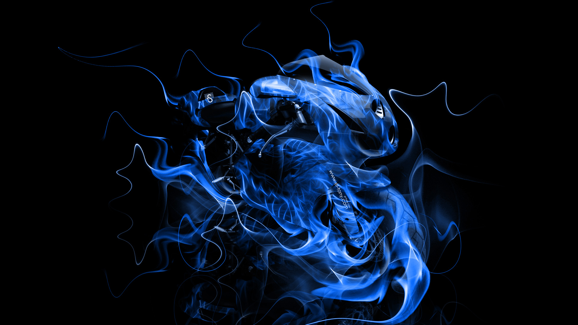 neon flame motorcycle wallpaper - photo #2