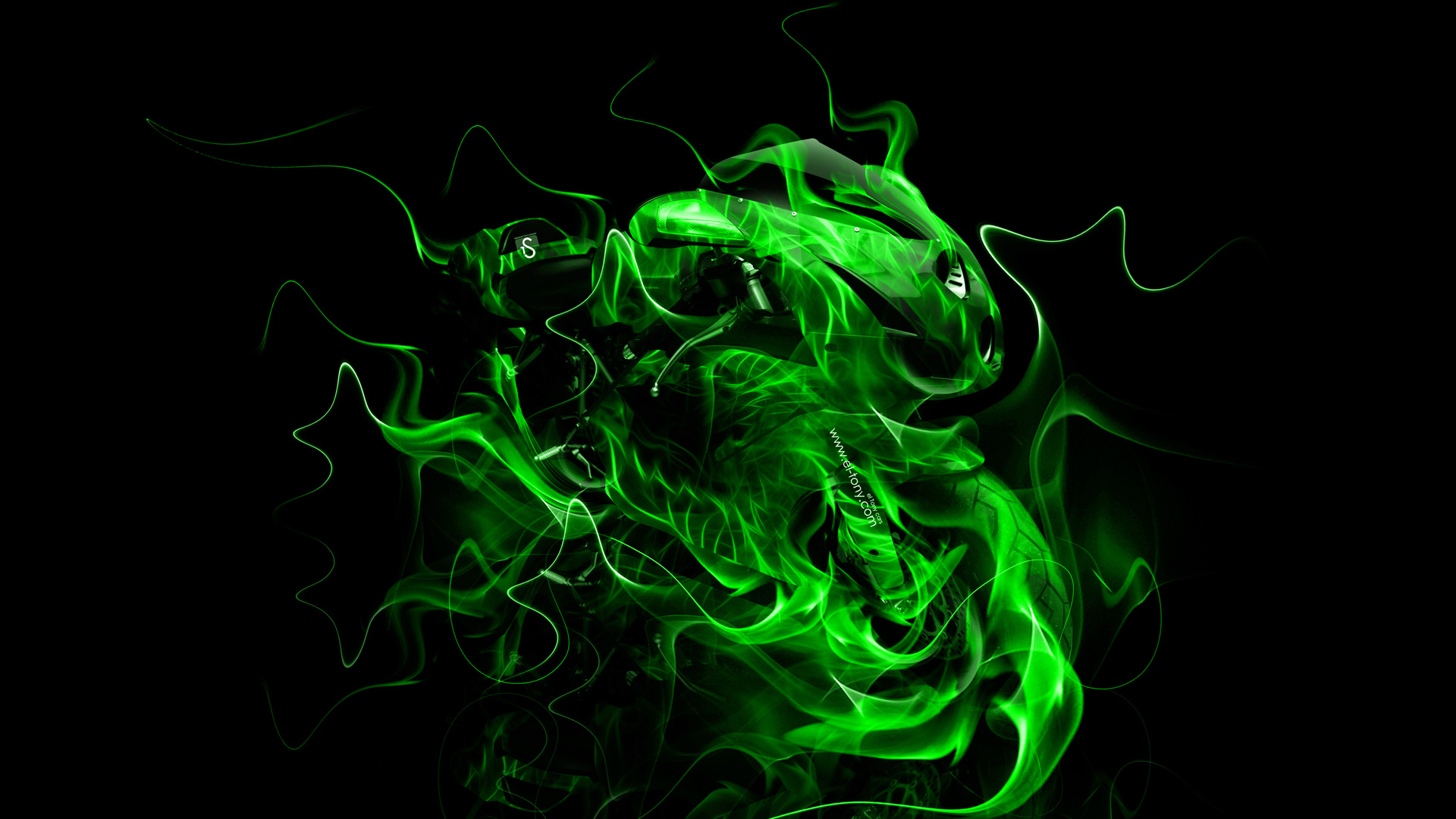 green fire wallpaper - photo #18