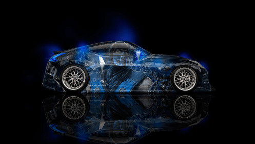Nissan-370Z-JDM-Side-Sub-Zero-Aerography-Energy-Car-2014-Blue-Neon-HD-Wallpapers-design-by-Tony-Kokhan-[www.el-tony.com]