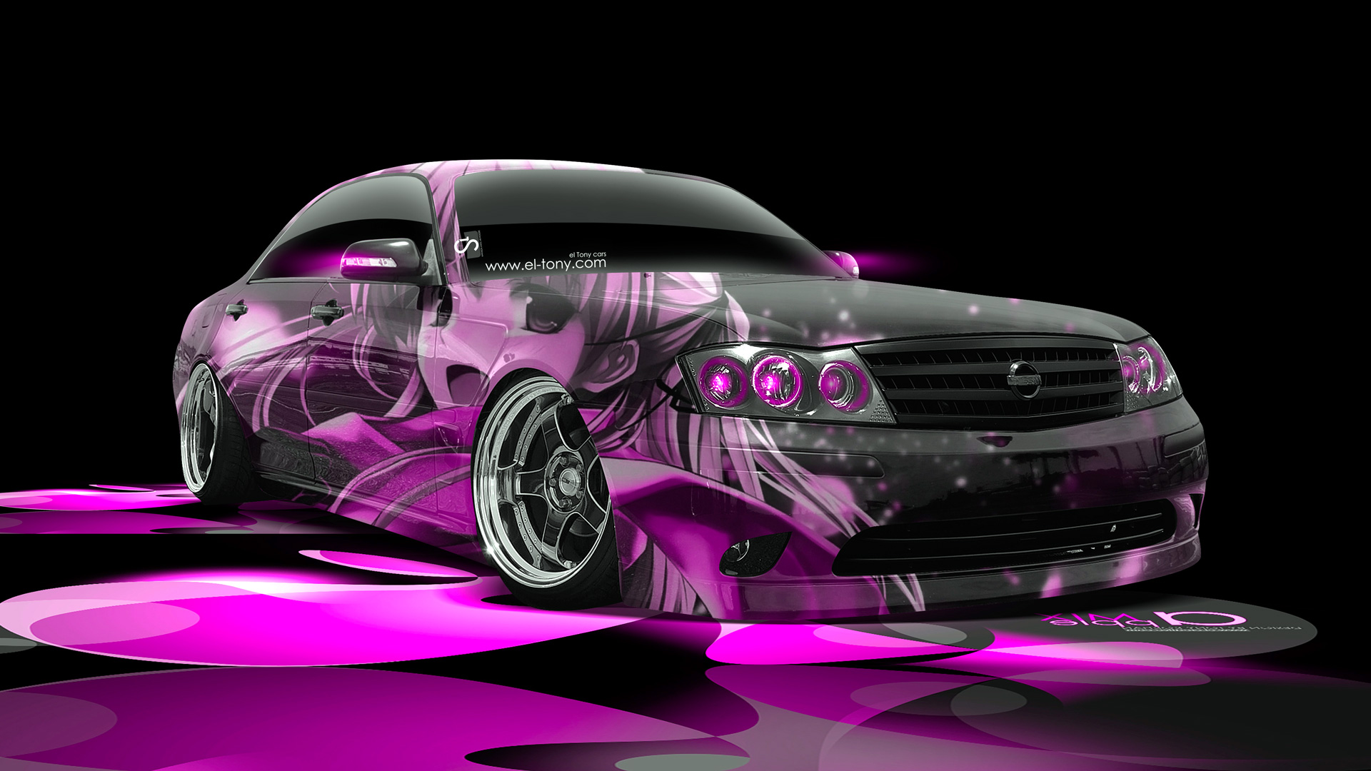 Exceptionnel Nissan Cedric JDM Anime Girl Aerography Car 2014  ...