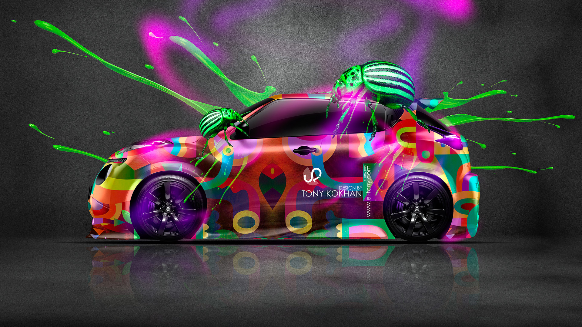 Charming Nissan Juke Fantasy Beetle Live Colors Car 2014