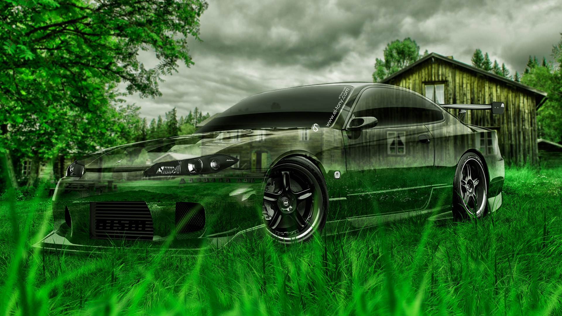 Toyota Altezza JDM Tuning Crystal Nature City Car. Nissan Silvia S15 JDM  Crystal Nature Car 2014