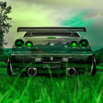Nissan Skyline GTR R34 Back Crystal Nature Car 2014