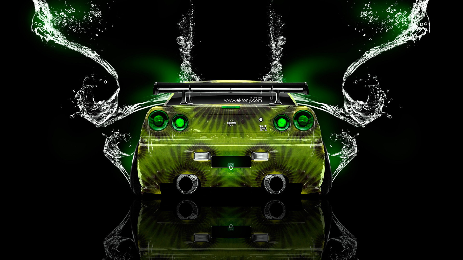 Superbe Nissan Skyline GTR R34 Fantasy Water Kiwi Car 2014 | El Tony