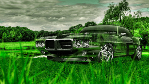 Pontiac-Firebird-Muscle-Retro-Crystal-Nature-Car-2014-Photoshop-HD-Wallpapers-design-by-Tony-Kokhan-[www.el-tony.com]
