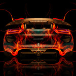 Porsche 918 Back Fire Abstract Car 2014