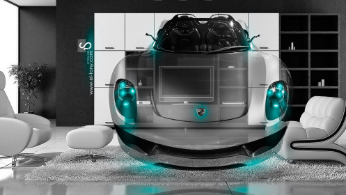 Porsche-918-Spyder-Fantasy-Crystal-Home-Fly-Car-2014-Azure-Neon-design-by-Tony-Kokhan-[www.el-tony.com]