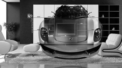 Porsche-918-Spyder-Fantasy-Crystal-Home-Fly-Car-2014-HD-Wallpapers-design-by-Tony-Kokhan-[www.el-tony.com]