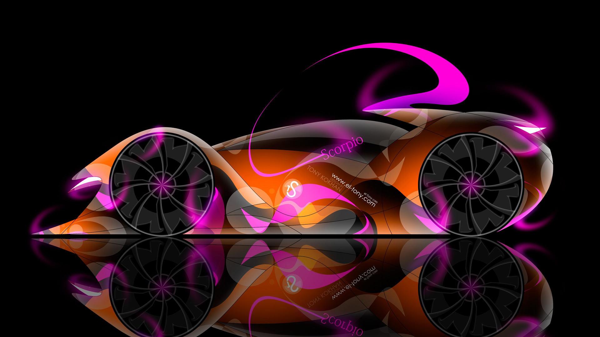 Attrayant BMW M4 Front Super Abstract Aerography Car 2014 · TS Scorpio Neon Car 2014