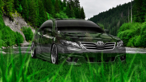 Toyota-Camry-Crystal-Nature-Car-2014-Art-Green-Grass-HD-Wallpapers-design-by-Tony-Kokhan-[www.el-tony.com]
