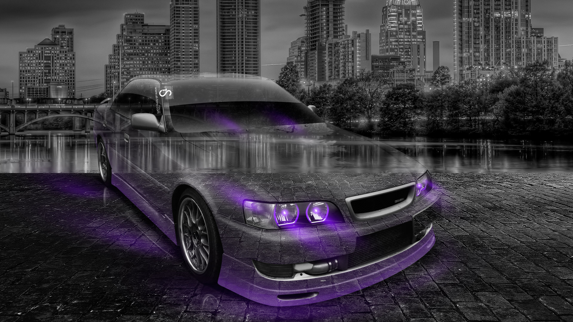 Amazing Beau Toyota Chaser JZX100 JDM Crystal City Car 2014 .