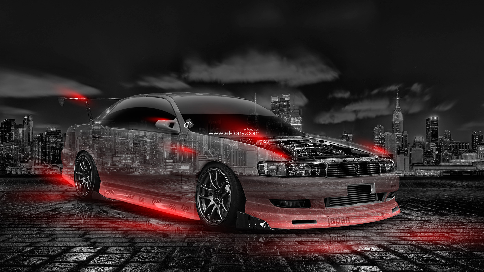 Wonderful Toyota Chaser JZX90 JDM Tuning Crystal City Car .