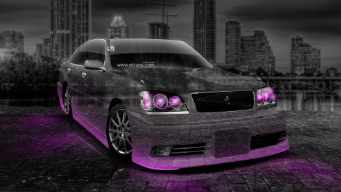 Toyota-Crown-Athlete-JDM-Crystal-City-Car-2014-Pink-Neon-HD-Wallpapers-design-by-Tony-Kokhan-[www.el-tony.com]