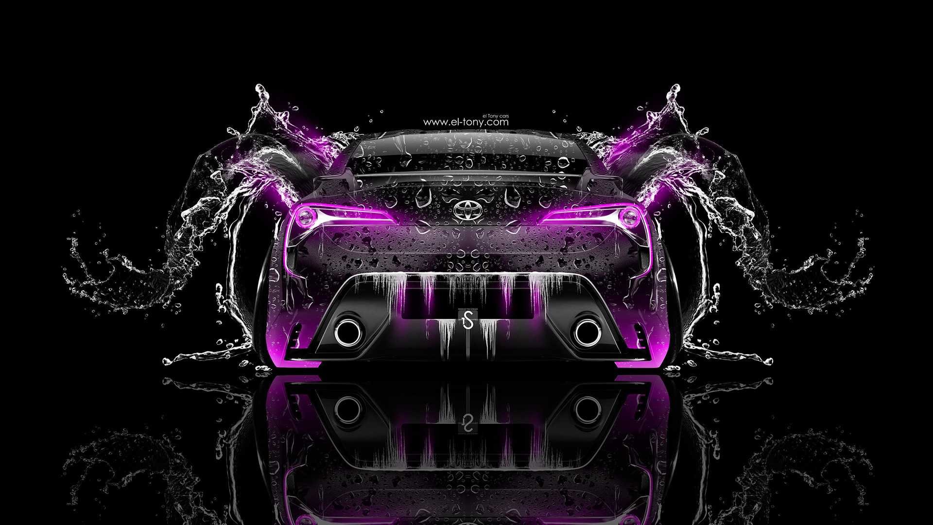 Toyota-FT-86-Back-Water-Car-2014-Pink-Neon-design-by-Tony-Kokhan-[www.el-tony.com]
