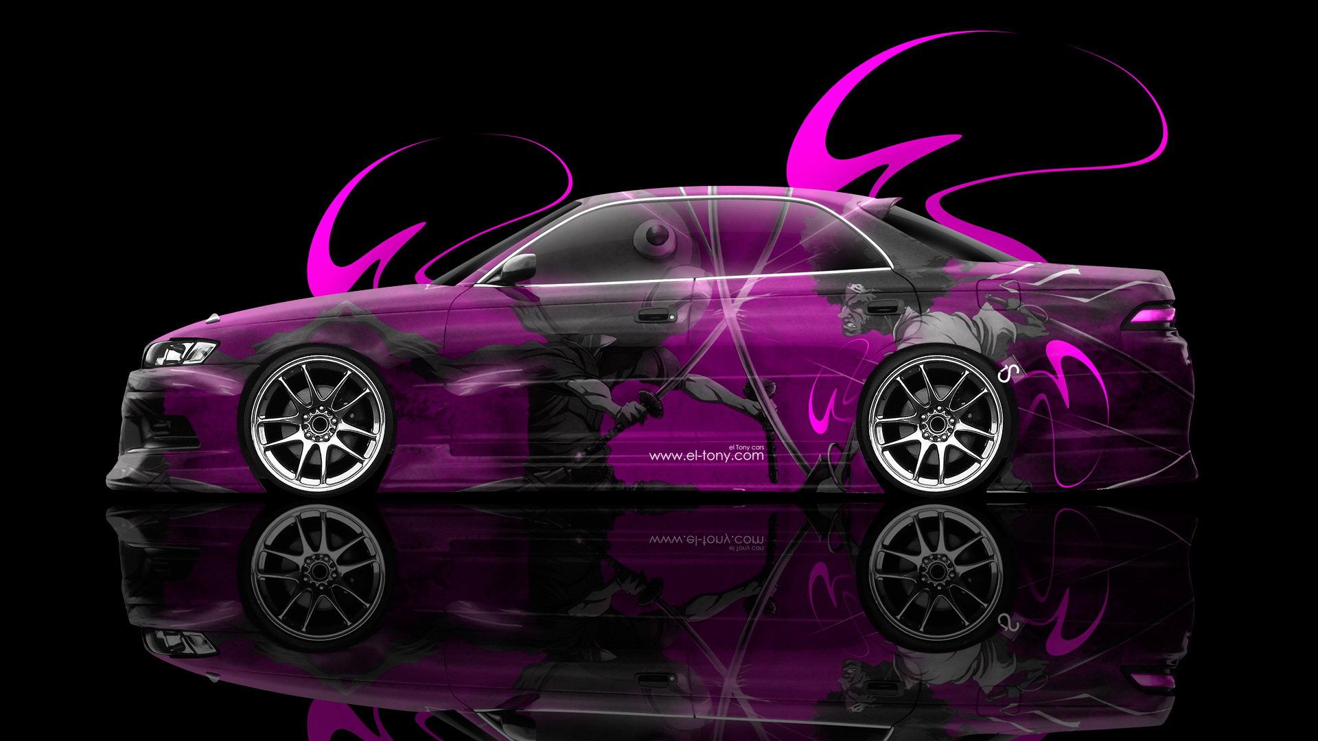 Genial Toyota Mark2 JZX90 JDM Anime Aerography Samurai Car 2014