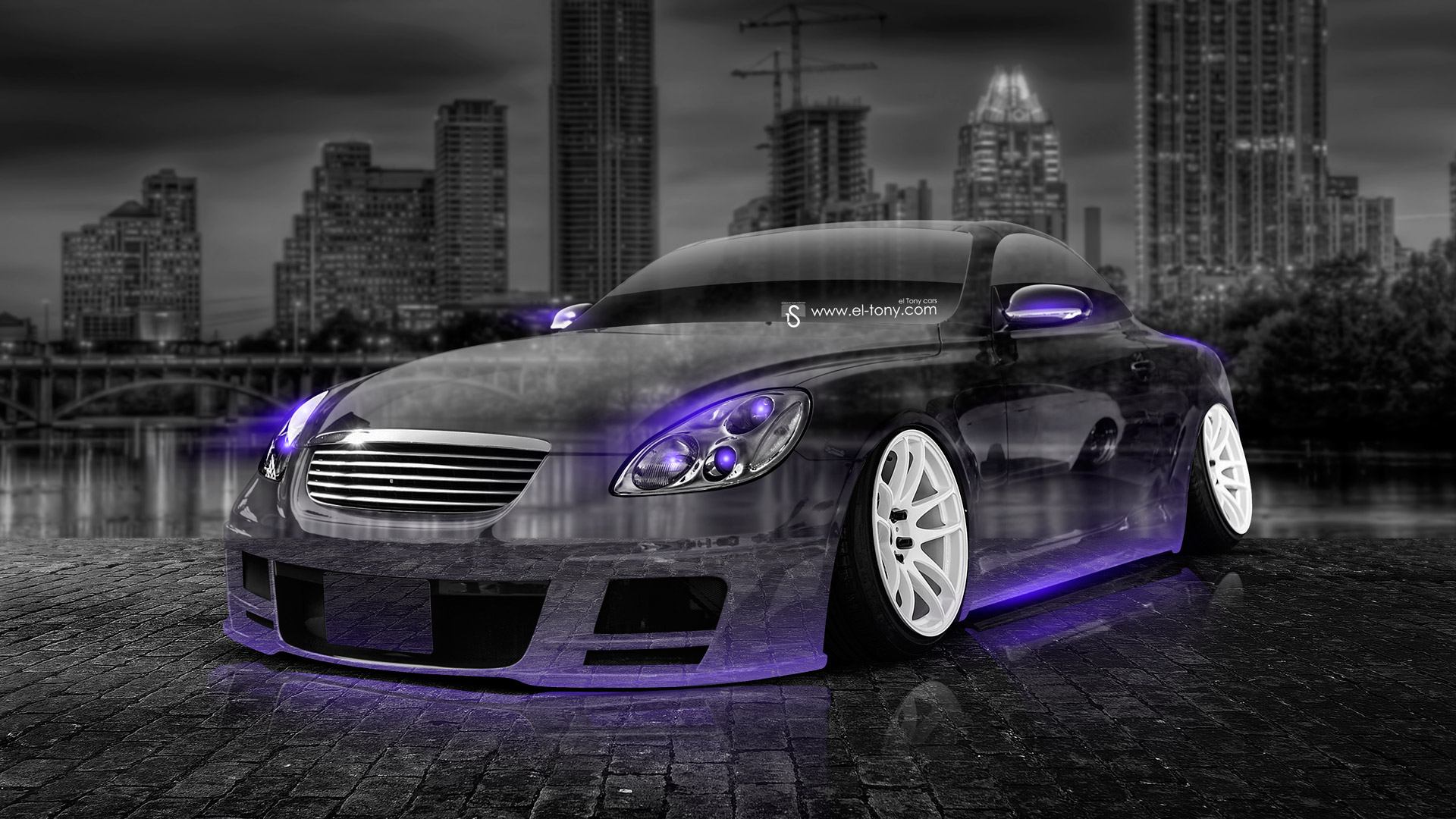 Superb Bon Toyota Soarer JDM Crystal City Car 2014 Violet