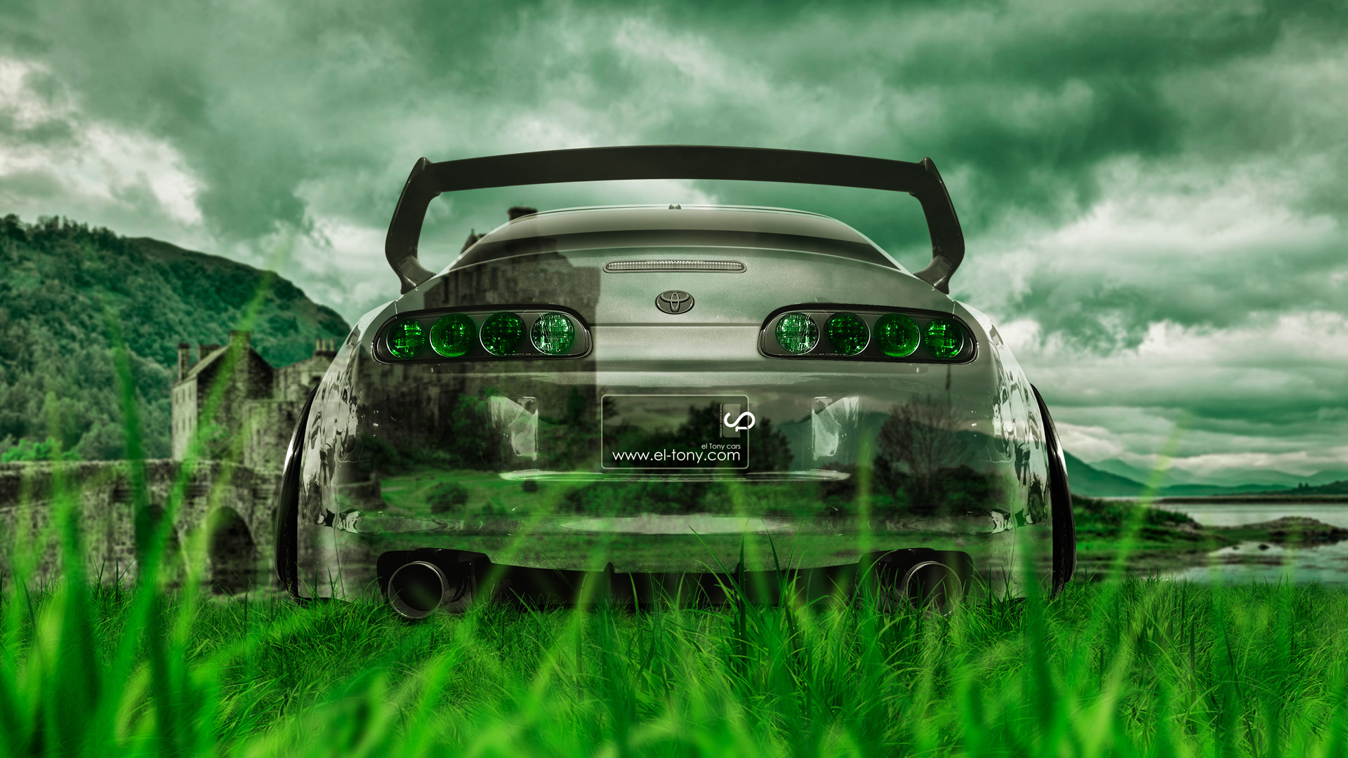 Toyota Supra JDM Back Crystal Nature Car 2014