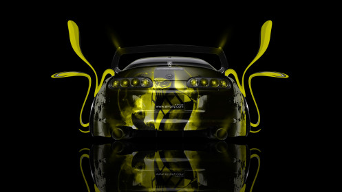 Toyota-Supra-JDM-Back-Mortal-Combat-Aerography-Scorpion-Car-2014-Yellow-Colors-design-by-Tony-Kokhan-[www.el-tony.com]