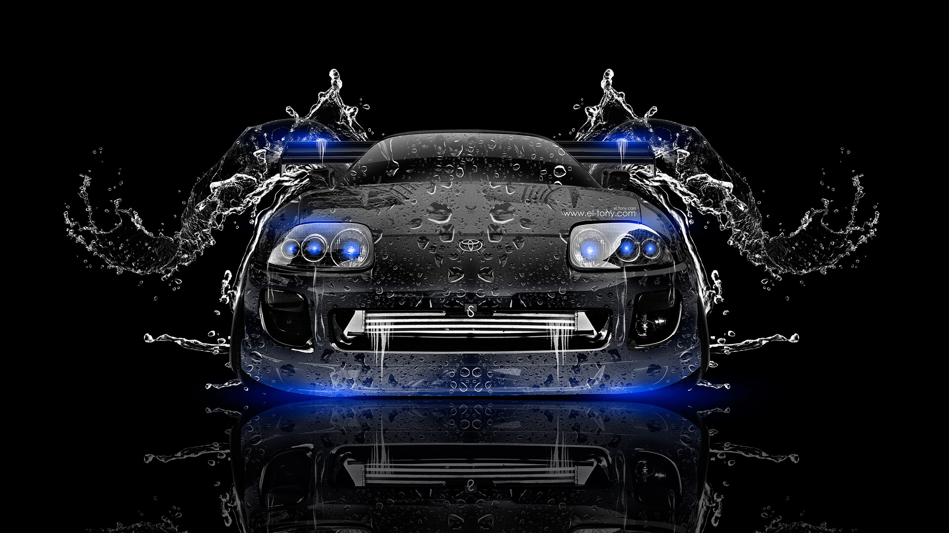Perfect ... Toyota Supra JDM Front Water Car 2014 Blue