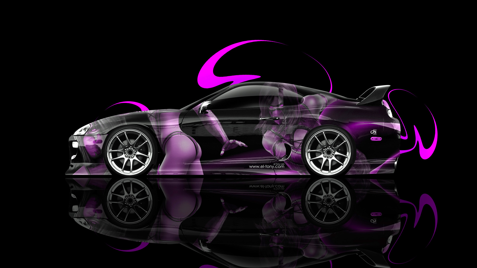 Attractive Ordinaire Toyota Supra Mileena Mortal Combat Aerography Car 2014
