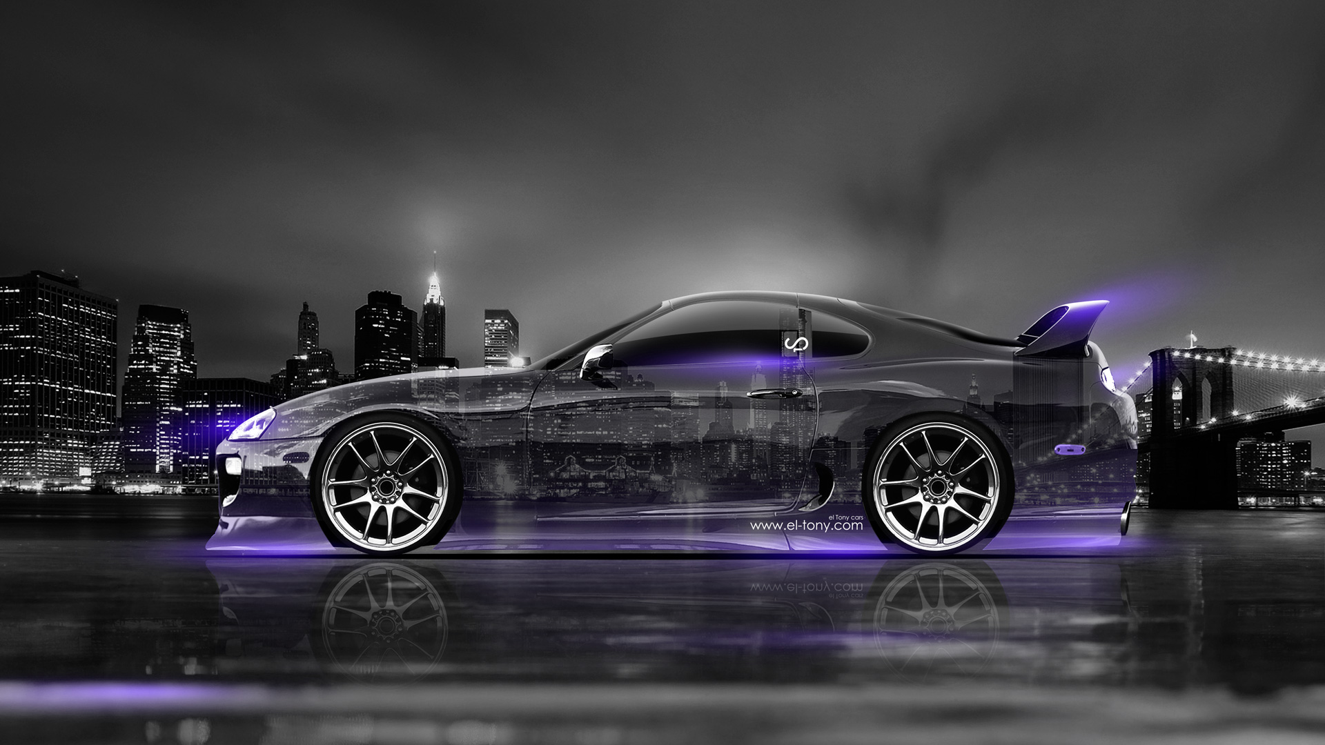 Toyota Supra JDM Tuning Side Crystal City Car  Design Inspirations