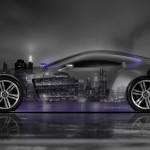 Aston Martin One77 Side Crystal City Car 2014