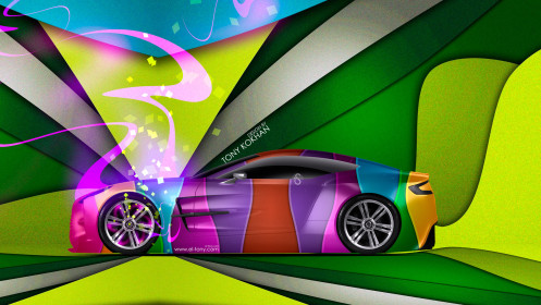 Aston-Martin-One77-Side-Super-Abstract-Car-2014-Multicolors-HD-Wallpapers-design-by-Tony-Kokhan-[www.el-tony.com]