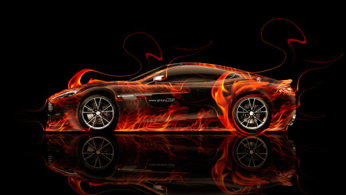 Aston-Martin-Vanquish-Side-Fire-Abstract-Car-2014-HD-Wallpapers-design-by-Tony-Kokhan-[www.el-tony.com]