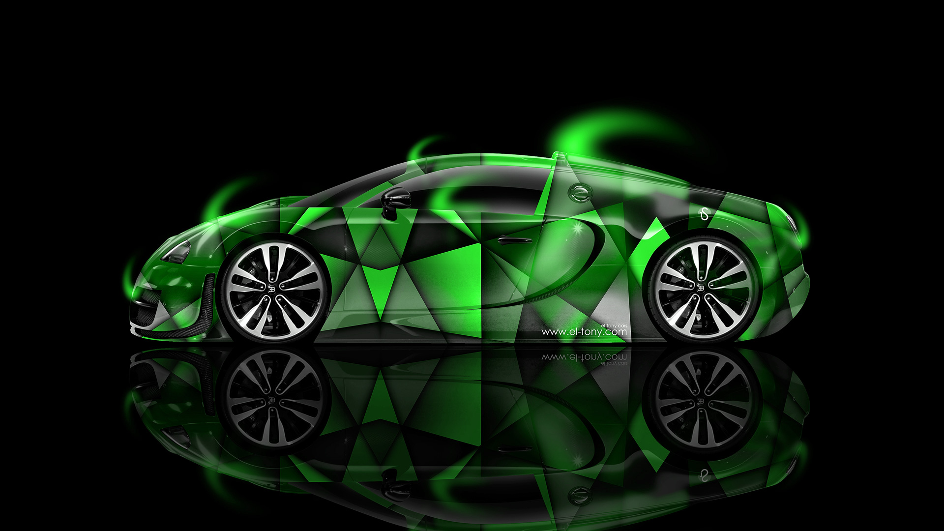 Bmw m6 hamann tuning side green fire abstract car 2015 hd wallpapers - Bugatti Veyron Side Aerography Car 2014 Green Colors Hd Wallpapers