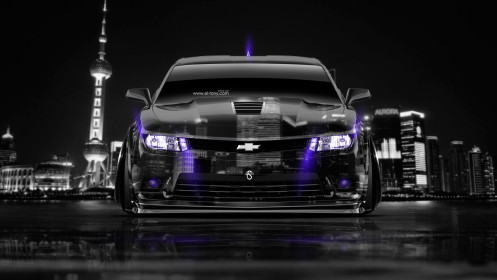Chevrolet-Camaro-Z28-Muscle-Front-Crystal-City-Car-2014-Violet-Neon-HD-Wallpapers-design-by-Tony-Kokhan-[www.el-tony.com]