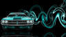 Dodge-Challenger-Muscle-Retro-Front-Super-Plastic-Car-2014-Azure-Neon-HD-Wallpapers-design-by-Tony-Kokhan-[www.el-tony.com]