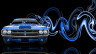 Dodge-Challenger-Muscle-Retro-Front-Super-Plastic-Car-2014-Blue-Neon-HD-Wallpapers-design-by-Tony-Kokhan-[www.el-tony.com]