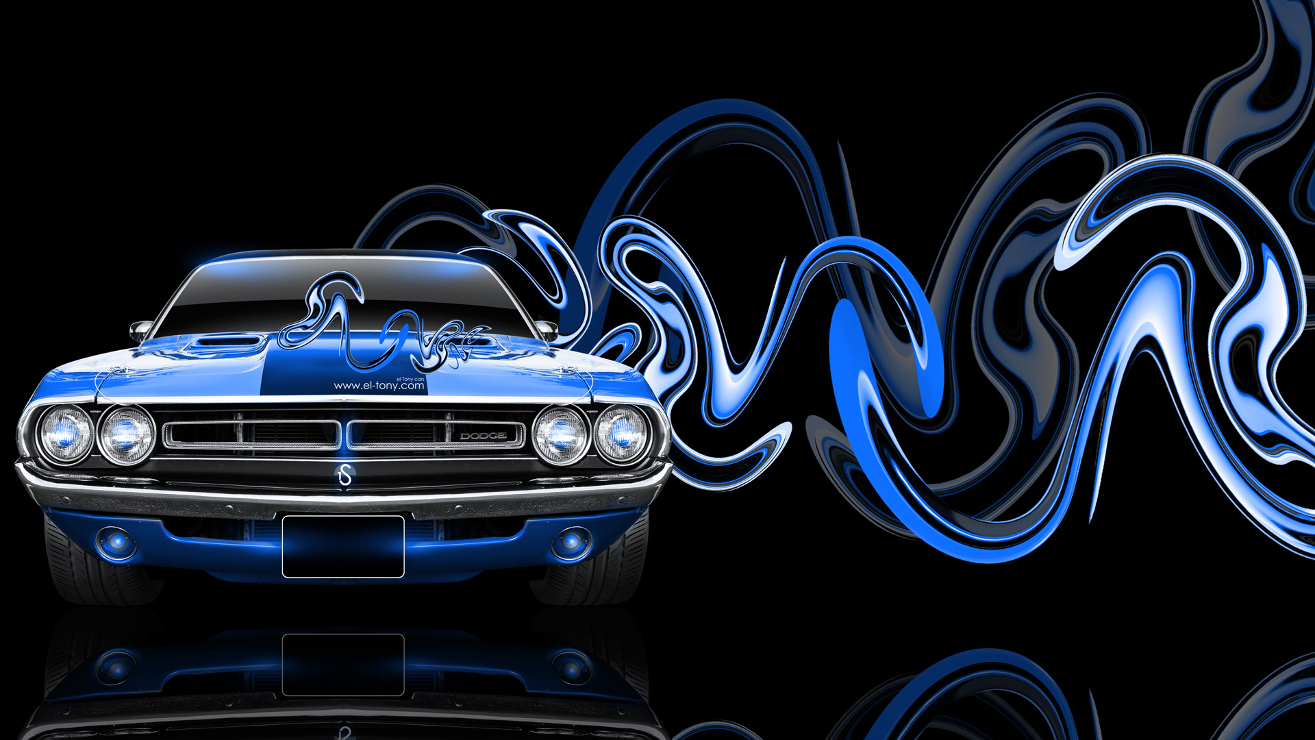 Dodge Challenger Muscle Retro Super Plastic Car 2014 El Tony