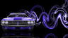 Dodge-Challenger-Muscle-Retro-Front-Super-Plastic-Car-2014-Violet-Neon-HD-Wallpapers-design-by-Tony-Kokhan-[www.el-tony.com]