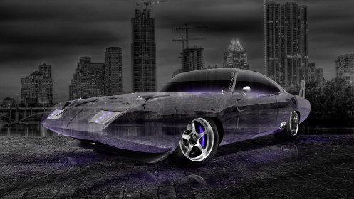 Dodge-Charger-Daytona-Muscle-Crystal-City-Car-2014-Art-Violet-Neon-HD-Wallpapers-design-by-Tony-Kokhan-[www.el-tony.com]