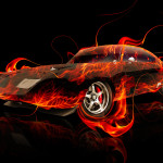 Dodge Charger Daytona Muscle Fire Abstract Car 2014