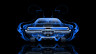 Dodge-Charger-Muscle-Retro-Back-Blue-Fire-Abstract-Car-2014-Photoshop-HD-Wallpapers-design-by-Tony-Kokhan-[www.el-tony.com]