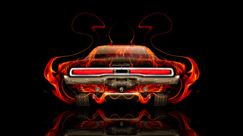 Dodge-Charger-Muscle-Retro-Back-Fire-Abstract-Car-2014-Photoshop-HD-Wallpapers-design-by-Tony-Kokhan-[www.el-tony.com]